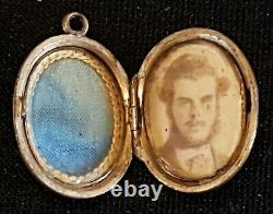 9 carat solid gold vintage Victorian antique oval locket pendant head