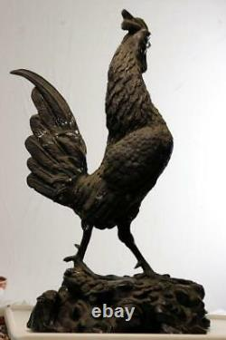 A Fine 19th Century Japanese Meiji Period Bronze Figure Rooster