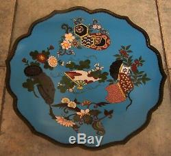 A Fine 19th Century Meiji Period Lovely Decorated Big Cloisonne Japanese Plate