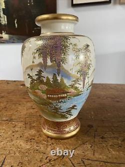 A fine and large Antique Japanese Satsuma Vase