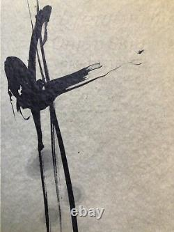 Abstract Calligraphy by Nankoku Hidai, Fine Art, Collectible Japanese Antique