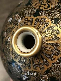 Amazingly rare very fine quality antique Japanese vase Meiji c 1880