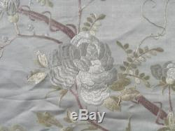 Antique Chinese Japanese Finely Embroidered Silk Tapestry 26x56 Peacock Birds B