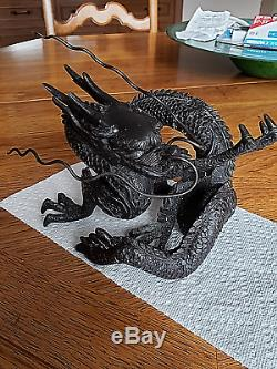 Antique Fine Japanese Bronze Dragon Sculpture Statue Meiji-period (1868-1912)