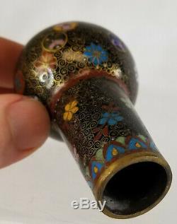 Antique Fine Japanese Chinese Cloisonne Cane Walking Stick Handle Head