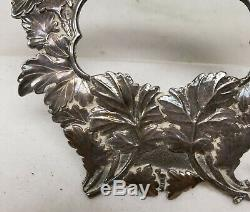 Antique Fine Japanese Sterling Silver Hallmarked Picture Frame Chrysanthemum