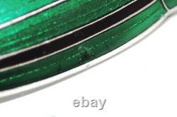 Antique Japanese Art Deco Sterling Silver Cloisonne Enamel Beetle Bug Brooch Pin