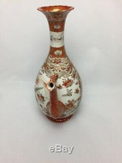 Antique Japanese Satsuma Kutani Large Teapot Dragon Hand Painted Fine Detail