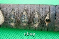 Antique Japanese fine Tsuka for Tanto Wakizashi Samurai sword Koshirae