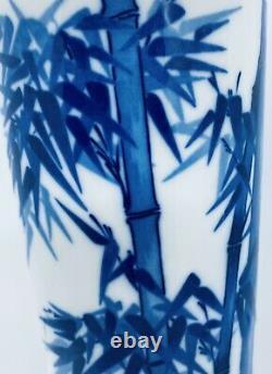 Antique Meiji Signed Japanese Studio Fine Porcelain Brush Pot Vase