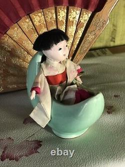Antique Mini Japanese Ichimatsu Doll Fine Silk Kimono