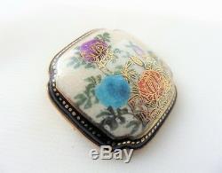 Antique Victorian Japanese Satsuma Brooch Pin