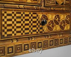 Antique fine quality Japanese marquetry table top cabinet circa 1890