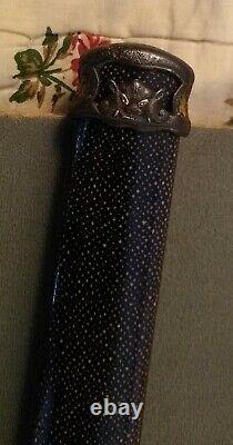 Edo Period wakizashi Koshirae, fine mounts polished Samegawa handachi fittings