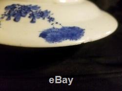 FINE 1860s JAPANESE CLOISONNE ARTWORK PORCELAIN PLATE KIWI MEIJI SIGNED MATZUOKA