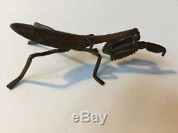 FINE Antique, Japanese/Japan Copper Okimono Netsuke Praying Mantis Lifesize