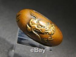 FINE Dragon KURIGATA 18-19thC Japanese Original Antique Edo Koshirae tsuba