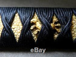 FINE Fittings TANTO TSUKA Handle Hors 18-19thC Japanese Edo Original Antique