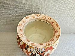 FINE JAPANESE KUTANI TRIPOD CENSER INCENSE BURNER as is condition