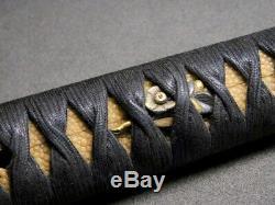 FINE KAMON FUCHI/KASHIRA Tanto TSUKA 19thC Japanese Edo Samurai Koshirae Antique