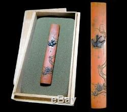 FINE KINKO Swallow KOZUKA 18-19thC Japanese Edo Original Antique Koshirae tsuba