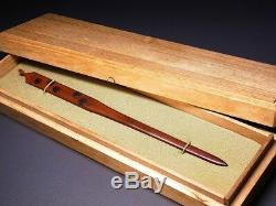 FINE KIRIMON KOGAI 18-19thC Japanese Edo Antique Koshirae fitting e728