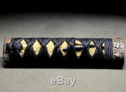 FINE MENUK & FUCHI/KASHIRA Tanto TSUKA 19thC Japanese Edo Koshirae Antique