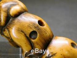 FINE Monkeys NETSUKE 18-19thC Japanese Edo Antique for Inro