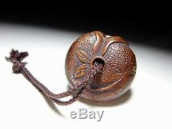 FINE Rare Style Mandarin NETSUKE 19C Japanese Edo Original Antique for Inro