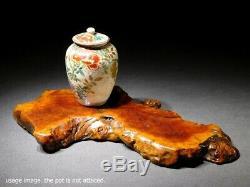 FINE Vintage Natural Wood Pedestal for Small Vase Statue Pot Bonsai Japanese Art