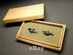 FINE Wild goose MENUKI 18-19thC Japanese Edo Antique for Koshirae