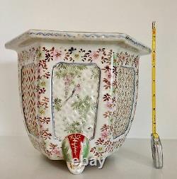Fabulous 8 Meiji Antique Japanese Kutani Jardiniere Pot Planter Fine Quality