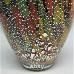 Fine 10.5 JAPANESE OSAKA Art Glass Vase by TOSTI IWATA c. 1950s Murano