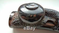 Fine 19th Century Japanese Edo Umimatsu (sea-pine) Netsuke Snail Upon Branch