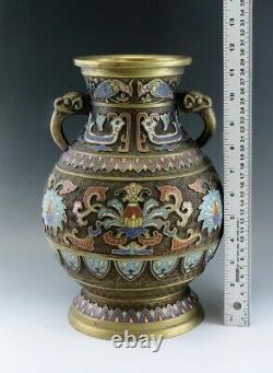 Fine Antique Chinese / Japanese Champleve Enamel Lamp or Vase Body