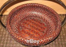 Fine Antique Japanese Basket Artist Signed Silver Plate Mounted