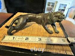 Fine Antique Japanese Bronze of a Crouching Tiger Meiji period