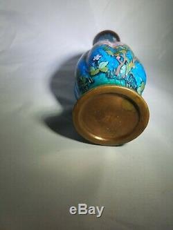 Fine Antique Japanese Cloisonne Enamel Mosaic Vase