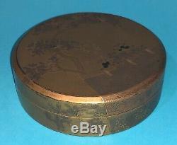 Fine Antique Japanese Edo Period Gold Lacquer Maki-e Box