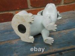 Fine Antique Japanese Hirado Porcelain Dog, Well Modelled 6