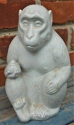 Fine Antique Japanese Hirado Porcelain Figure Of An Ape 7 1/2'', marked