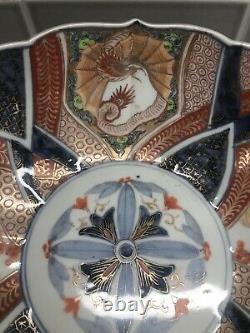 Fine Antique Japanese Meiji Imari Large Bowl Hand Painted Porcelain