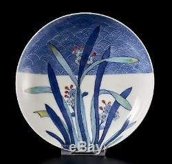 Fine Antique Japanese Nabeshima Style Plate with Narcissus