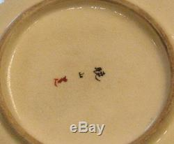 Fine Antique Japanese Satsuma Cup and Saucer with Cranes