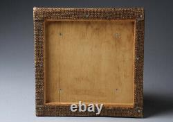 Fine Antique Japanese Signed Masterly Crafted Wood Panel Carving Wall Hanging