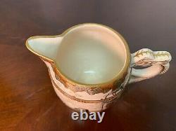 Fine Antique Satsuma Japanese Hand Painted Tea set 3 pc Pot Creamer Sugar Meiji