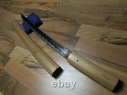 Fine Art waki sword Antique Samurai japanese koshirae saya katana menuki fuchi