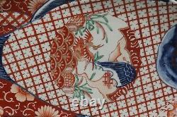 Fine Beautiful Japanese Imari Porcelain Fish Plate