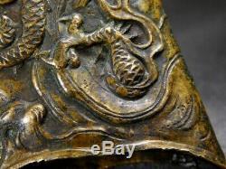 Fine Dragon Brass Kojiri 18/19C Japanese Edo Original Antique koshirae tsuba