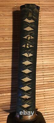 Fine Edo Period, Japanese, Mounted Unsigned Wakizashi Sword, Shigenobu tsuba